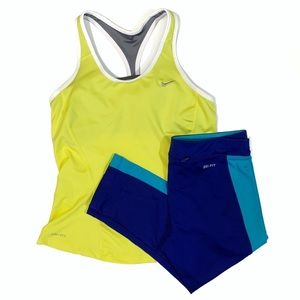 Nike Dri-fit Bundle Crop Leggings Tank Size Small